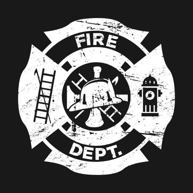 Fantastic Distressed Firefighter Logo - Firefighter - T-Shirt | TeePublic IF52