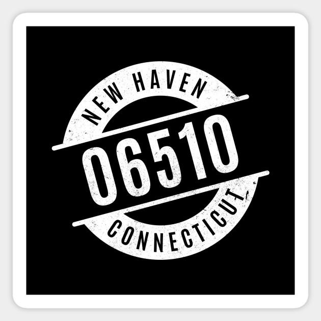 New Haven Connecticut 06510 Zip Code Zipcode Sticker Teepublic