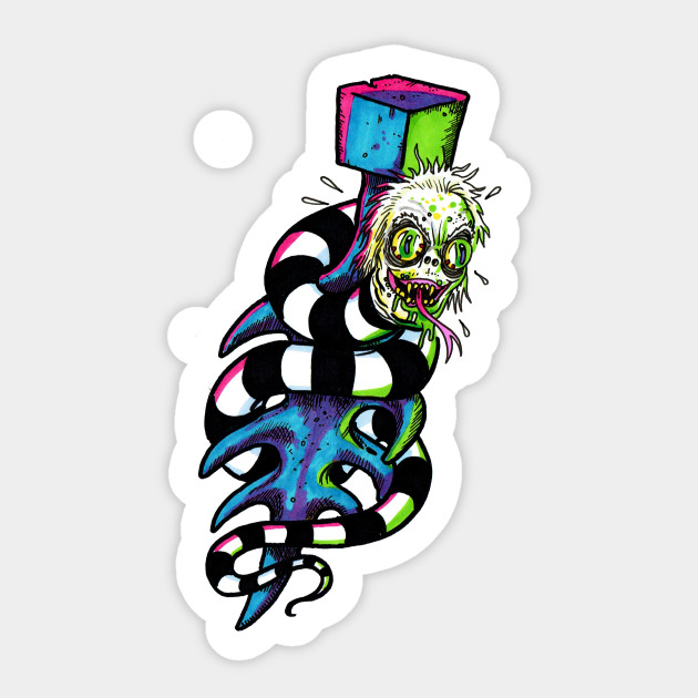 Beetlejuice Tattoo Ting Michael Keaton Sticker Teepublic