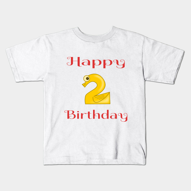 Happy 2nd Birthday Second For Boys Or Girls Kids T Shirt