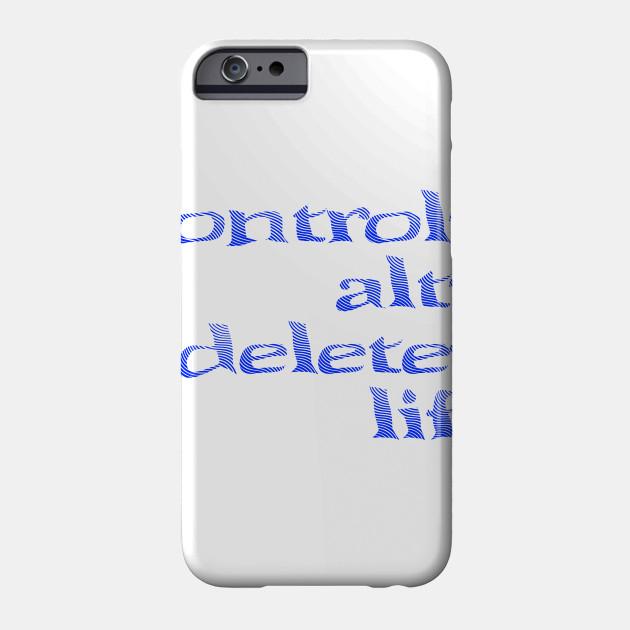 Control Alt Delete Life Funny And Sad Millennial Vaporwave Error Glitch Aesthetic Pastel Internet Cyberpunk Depressed Tee Depression Phone Case Teepublic