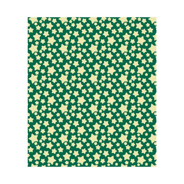 Green Yellow Star Pattern