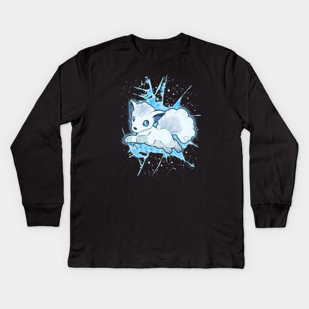 dcc7b7ca Alola Vulpix - Vulpix - Kids Long Sleeve T-Shirt | TeePublic