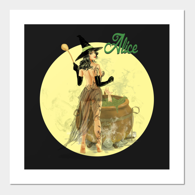 Alice The Witch Pin Up Girl Pin Up Girl Posters And Art Prints Teepublic