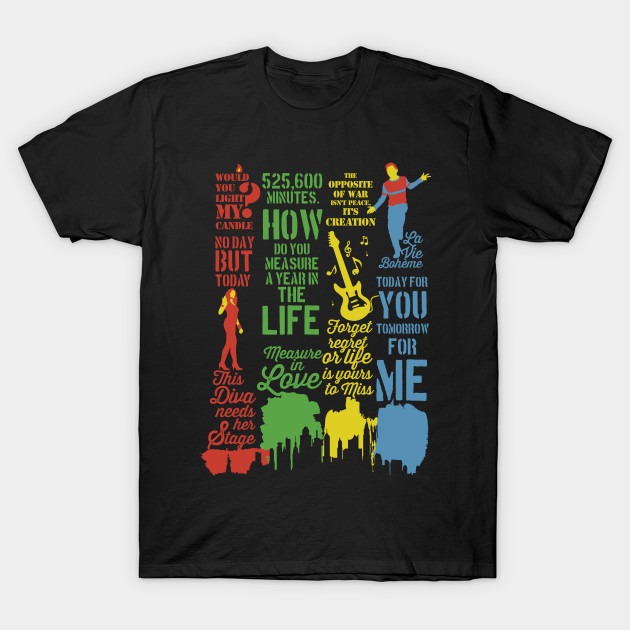 44977b0a Rent Best Quotes - Rent Musical - T-Shirt | TeePublic