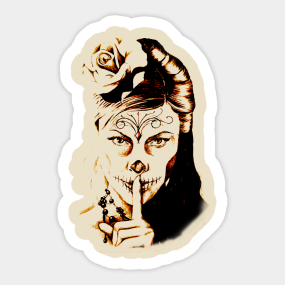 Santa Muerte Stickers Teepublic