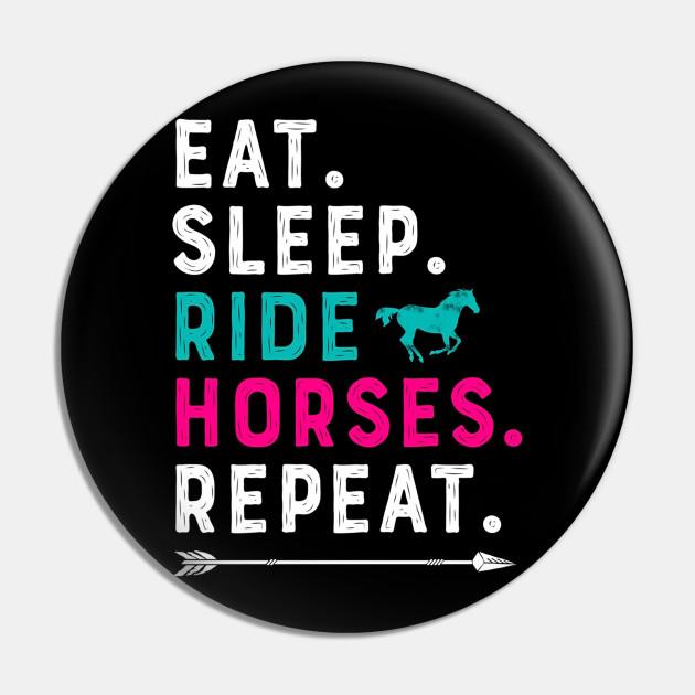 Eat Sleep Ride Repeat Birthday Horses Girls Funny Kids Hoodie