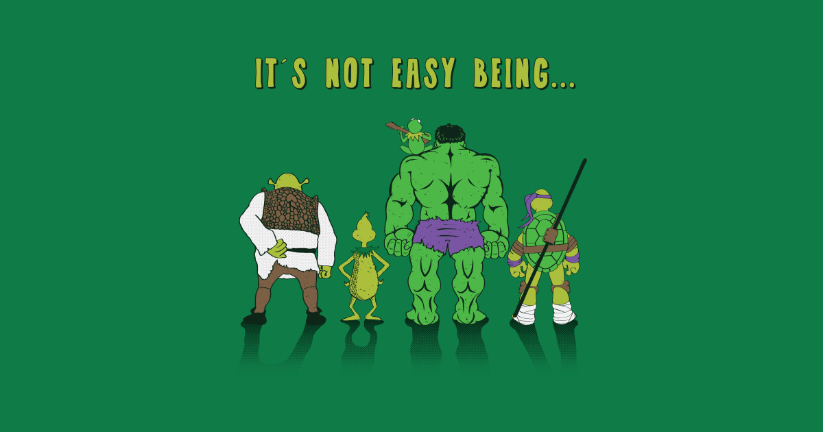 Image result for it's not easy being green