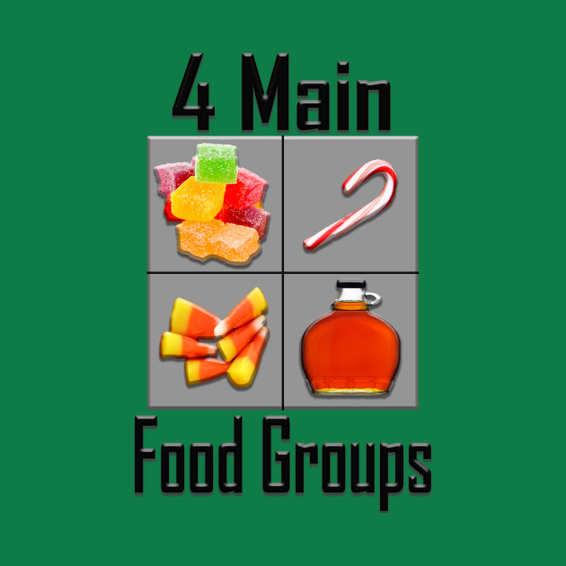 4 Main Food Groups - Elf Buddy Christmas Movie