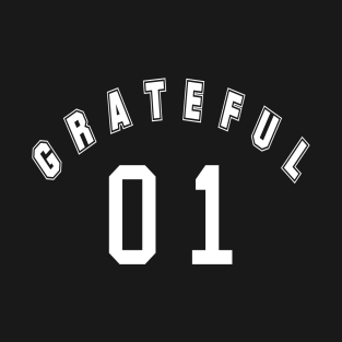 23ff905a42161 Gratitude - Grateful With Number One T-Shirt