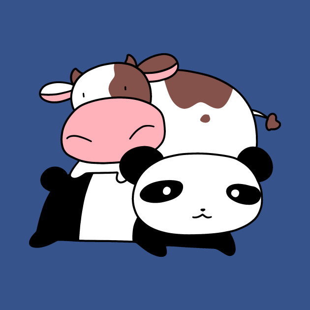Little Cow and Panda