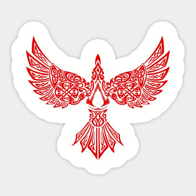 Assassins Creed Valhalla Synin Raven Assassins Creed Sticker Teepublic