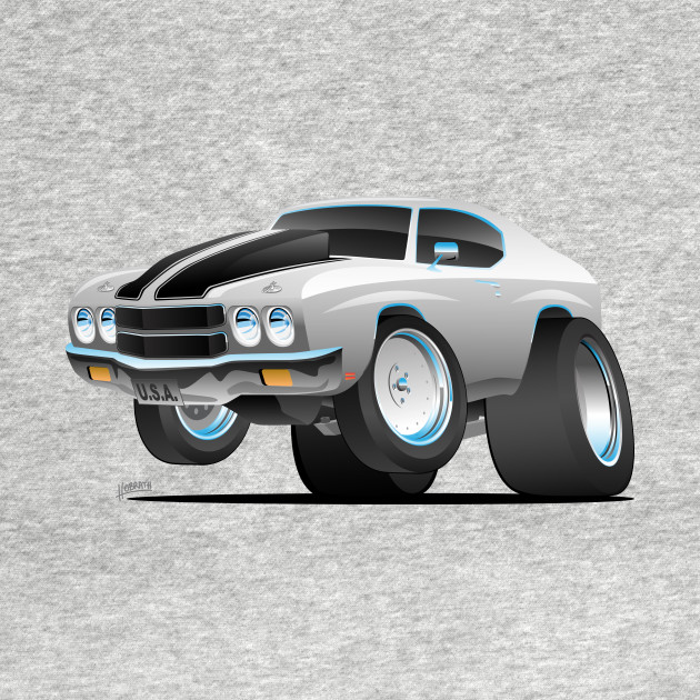 Classic 70 S American Muscle Car Cartoon Muscle Car T Shirt