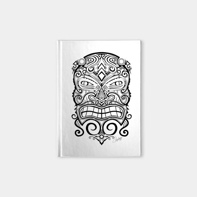 Tiki Mask Tattoo - Tiki Tiki - Notebook | TeePublic