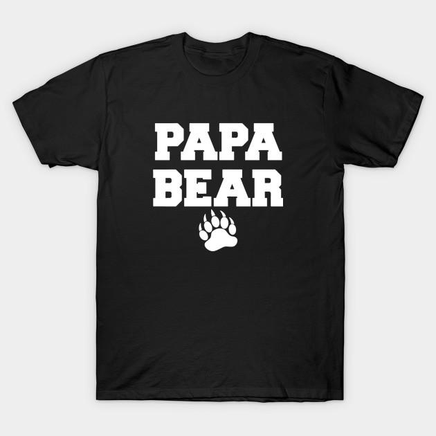 7986381f1cbc8 Papa Bear Humour Logo - Funny - T-Shirt   TeePublic