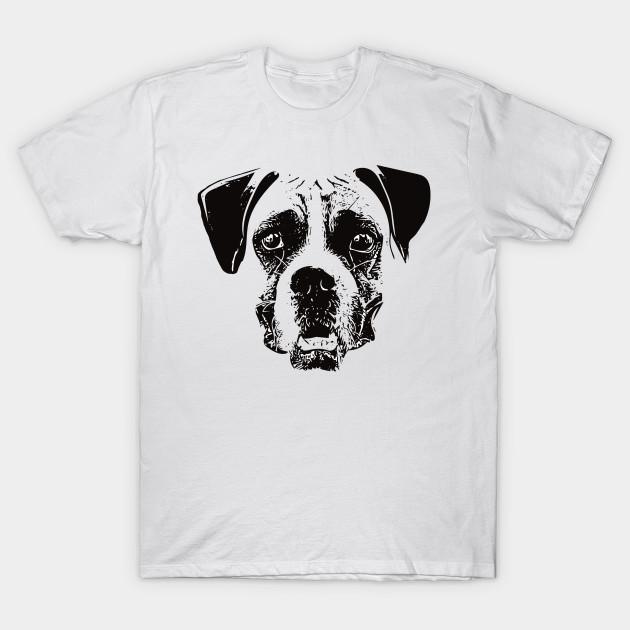 Boxer Dog Face Design A Boxer Christmas Gift Boxer Dog T Shirt