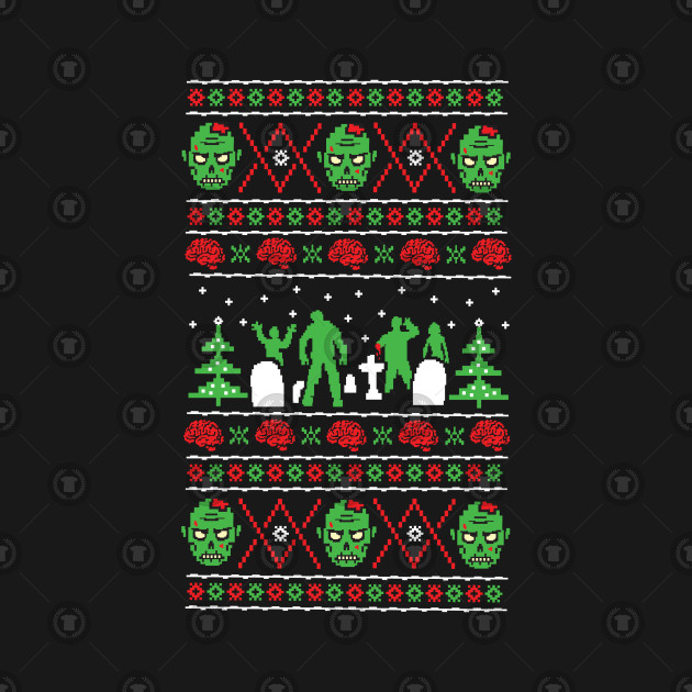 Zombie Ugly Xmas Sweater