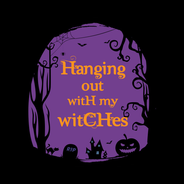 Halloween Hanging Out Witches