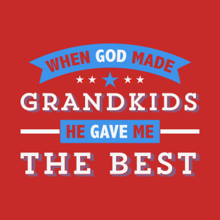 God Gave Best Grandchildren t-shirts