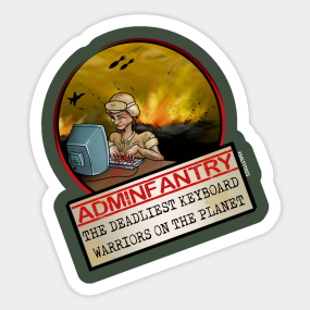 Adminfantry Sticker