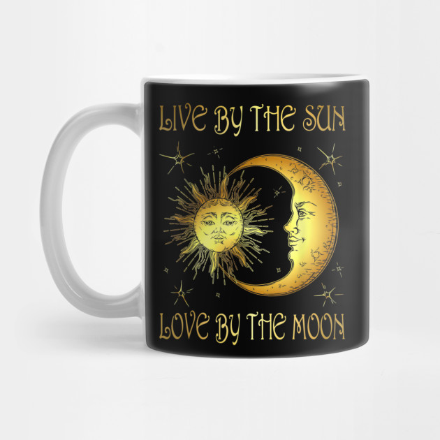 Live By The Sun Love By The Moon Hippie Gypsy T-Shirt by kencoca