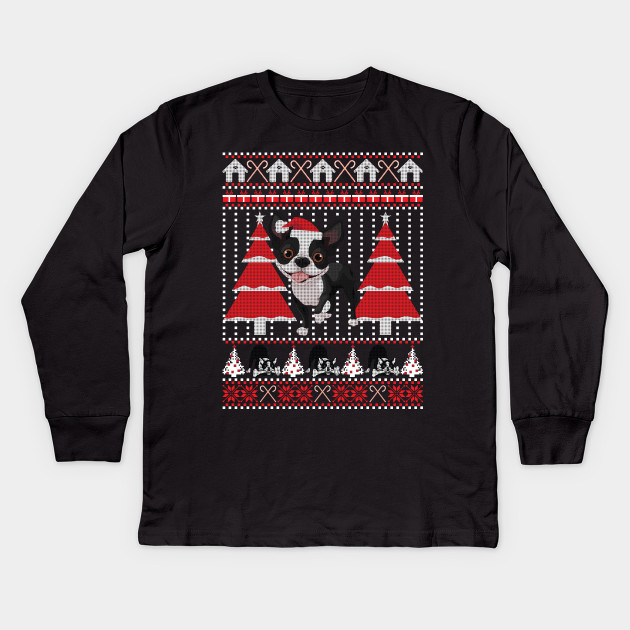Boston Terrier Christmas Sweater.Boston Terrier Ugly Christmas Sweater Funny Dog