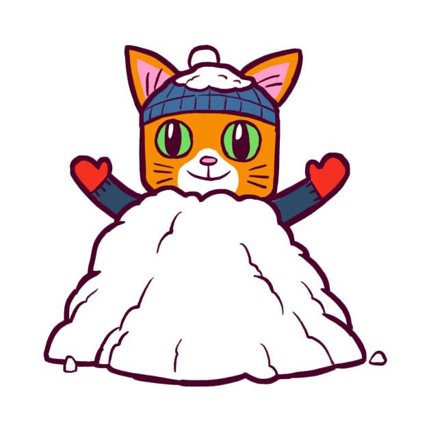 Winter Gato Snowpile