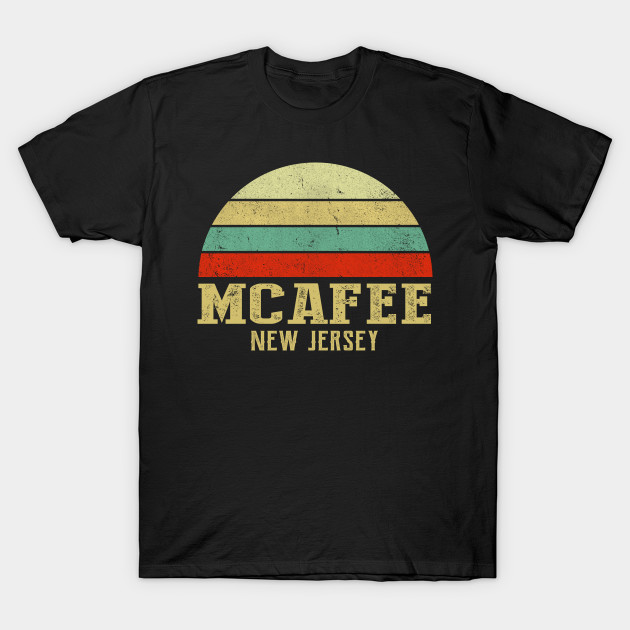 MCAFEE NEW JERSEY Vintage Retro Sunset Shirt