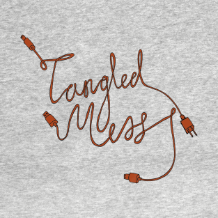 Tangled Mess Red t-shirts