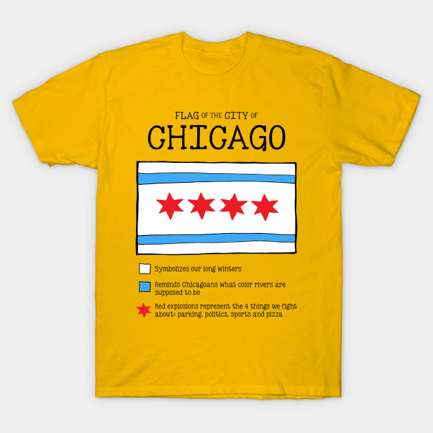 Chicago Flag Chicago Flag T Shirt Teepublic