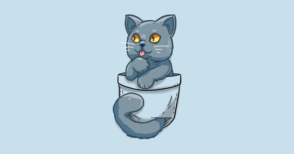 Pocket Cute British Shorthair Cat British Shorthair T Shirt