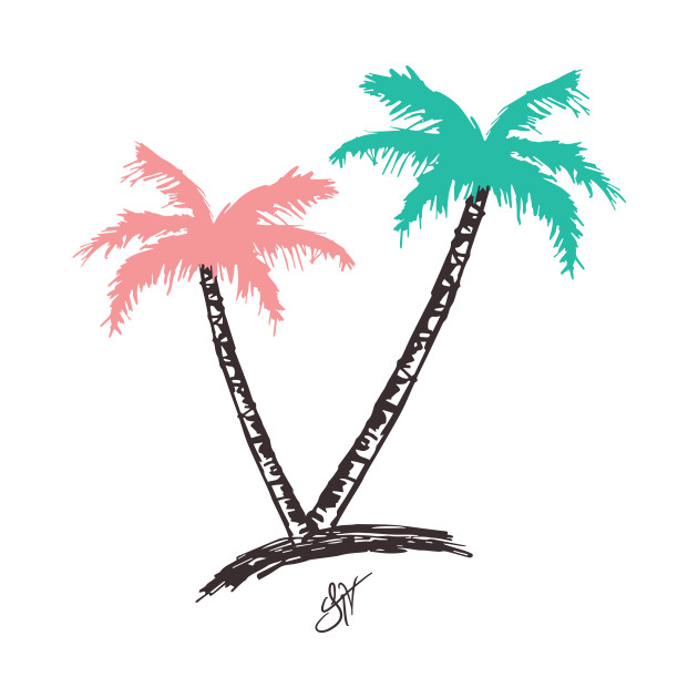 "Jhoni The Voice ""His and Her Palm Tree"" Tee"