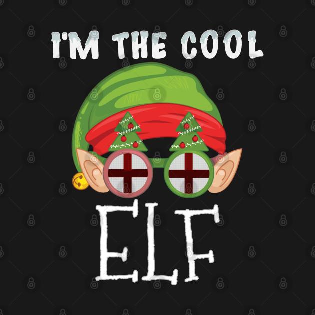 Christmas  I'm The Cool English Elf - Gift for English From England