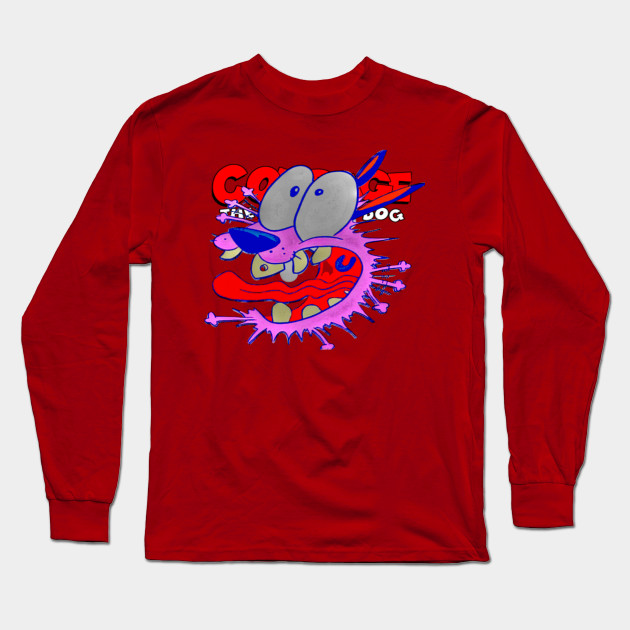 Courage the Cowardly Dog SCARED DOG Adult Heather T-Shirt All Sizes