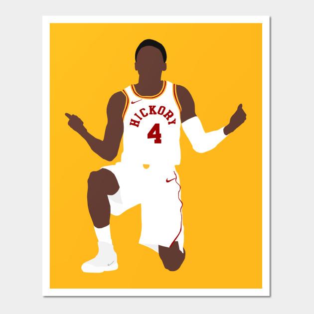Victor Oladipo Hickory Pacers - Victor Oladipo - Wall Art   TeePublic