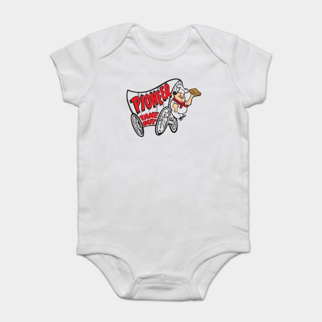 Pioneer Chicken T Shirt Defunct Fast Food Chain Logo White