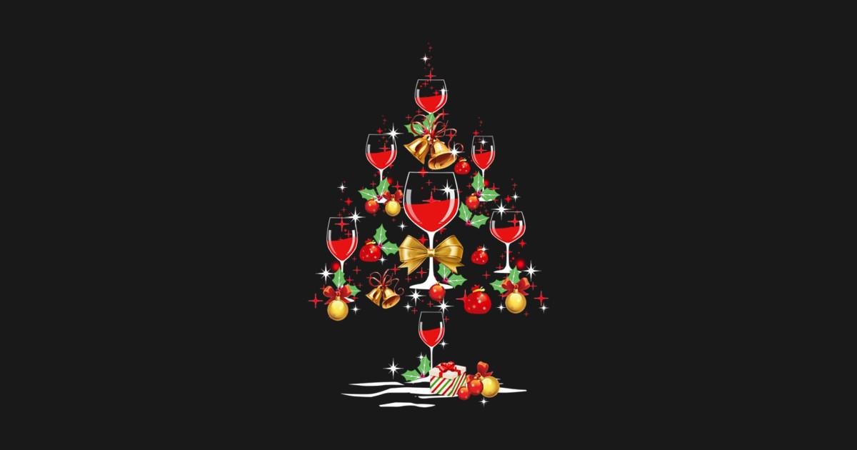 Wine Christmas Tree Shirt.Christmas Wine Tree Shirt Funny Red Wine Glasses Xmas Tree By Optimus1708