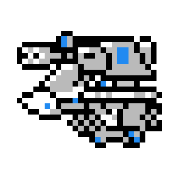 8bit VF-1S Strike Valkyrie (Fighter mode, Max colors)