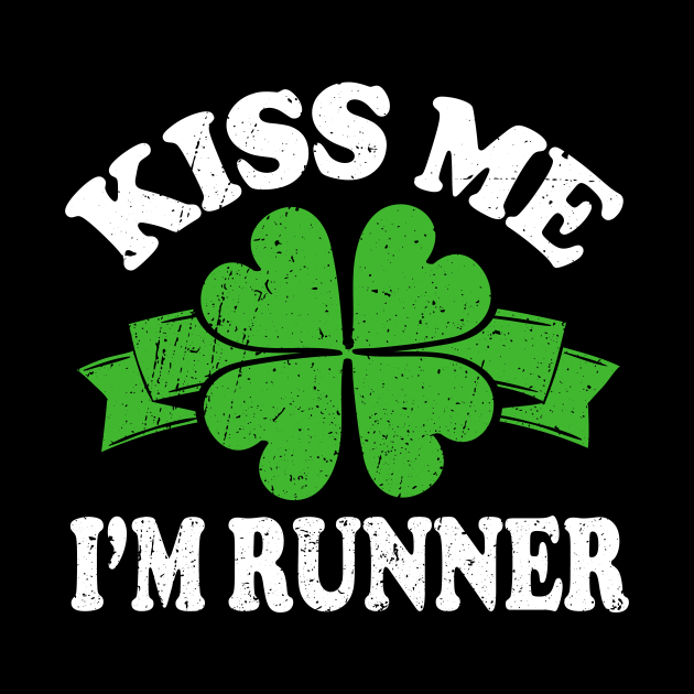 St Patricks Day Running I Kiss Me I'm a Runner