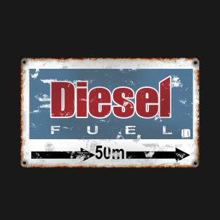 Vintage Fuel Road Sign
