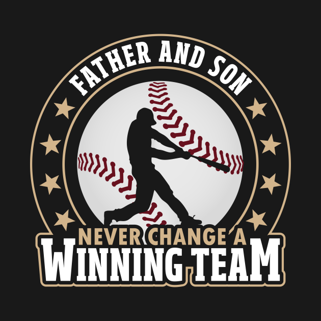 Father And Son Winning Team Baseball
