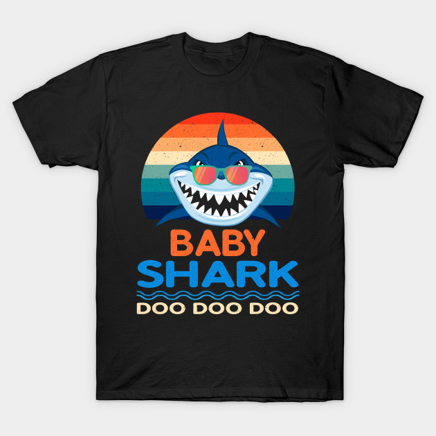 cf2b6e8a Retro Vintage Baby Shark TShirt Gift for Baby Girls Kids - Baby ...
