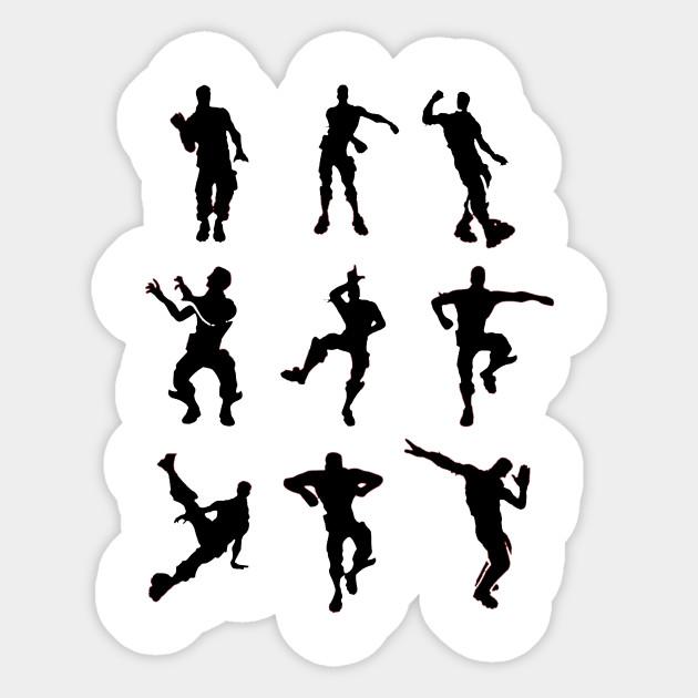Fortnite Dance Emotes Fortnite Battle Royale Sticker Teepublic