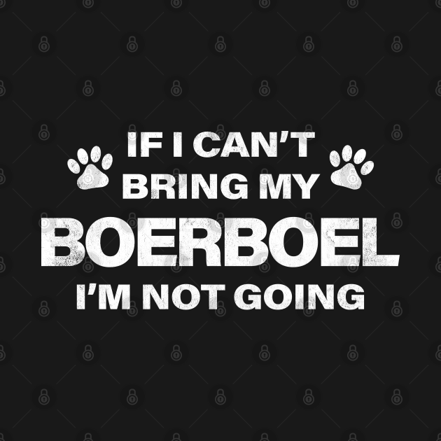 Boerboel Humorous Dog Paws Design