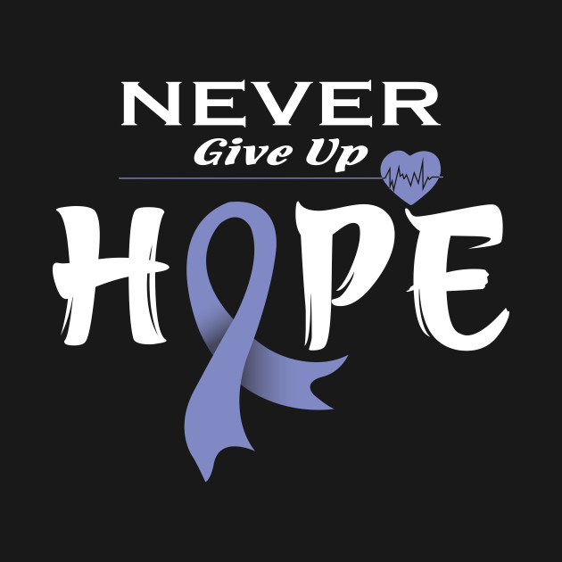 Esophageal Cancer Awareness Shirt Never Give Up Hope Cancer