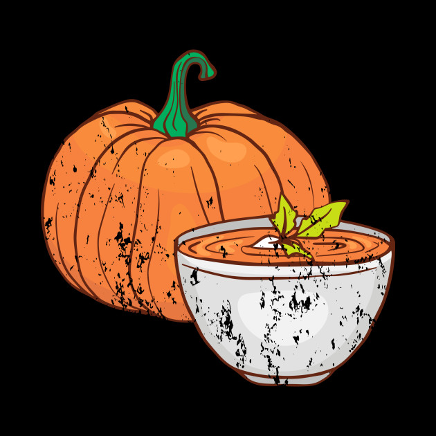 pumpkin soup Retro Vintage Grunge