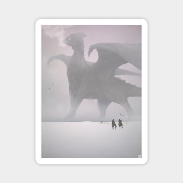 In winter, a dragon