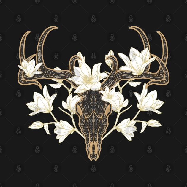 Flowered Deer Skull Howard Marsh