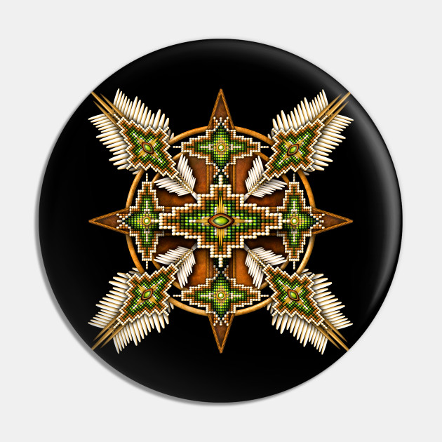 Brown And Green Native American Mandala Native American Pin Teepublic