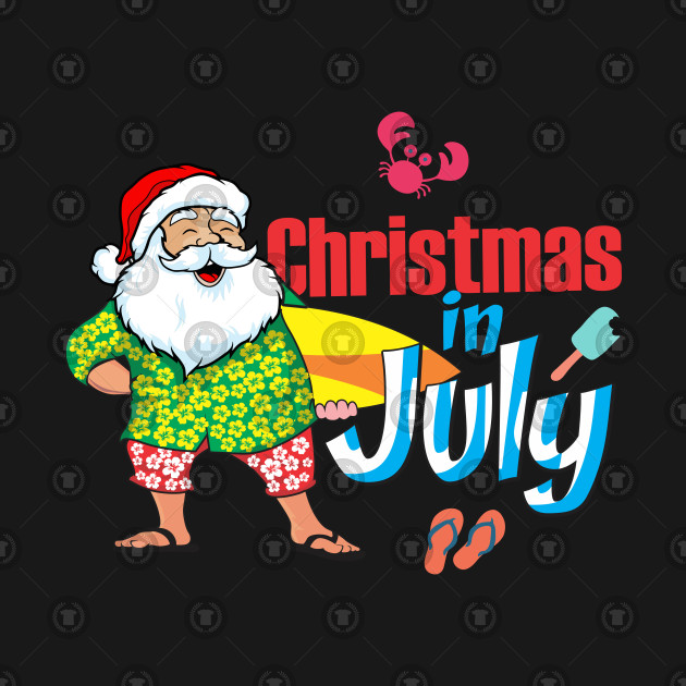 Christmas In July Party Supplies.Merry Christmas In July Shirt Decoration Party Supplies